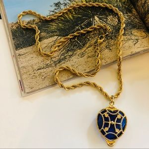 PARKLANE VTG Heart Pendant Gold Chain Necklace
